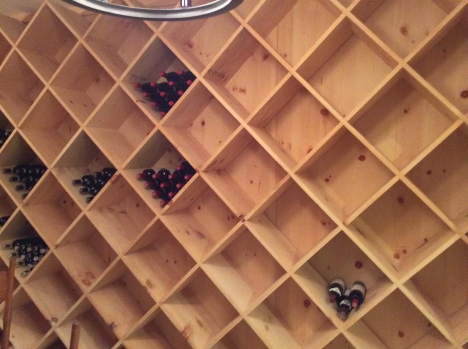 stom built 2000 bottle wine cellar finished.