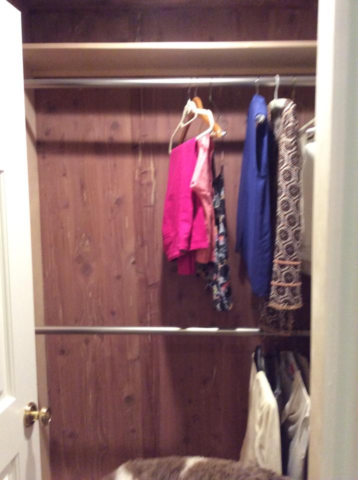 Finished closet.