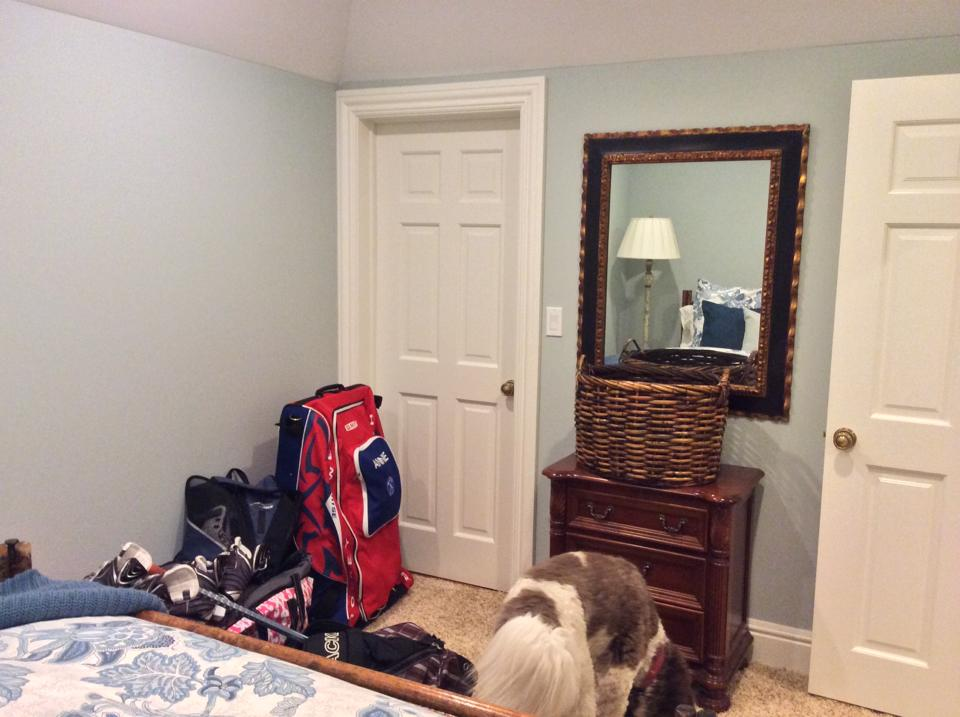 Finished bedroom.