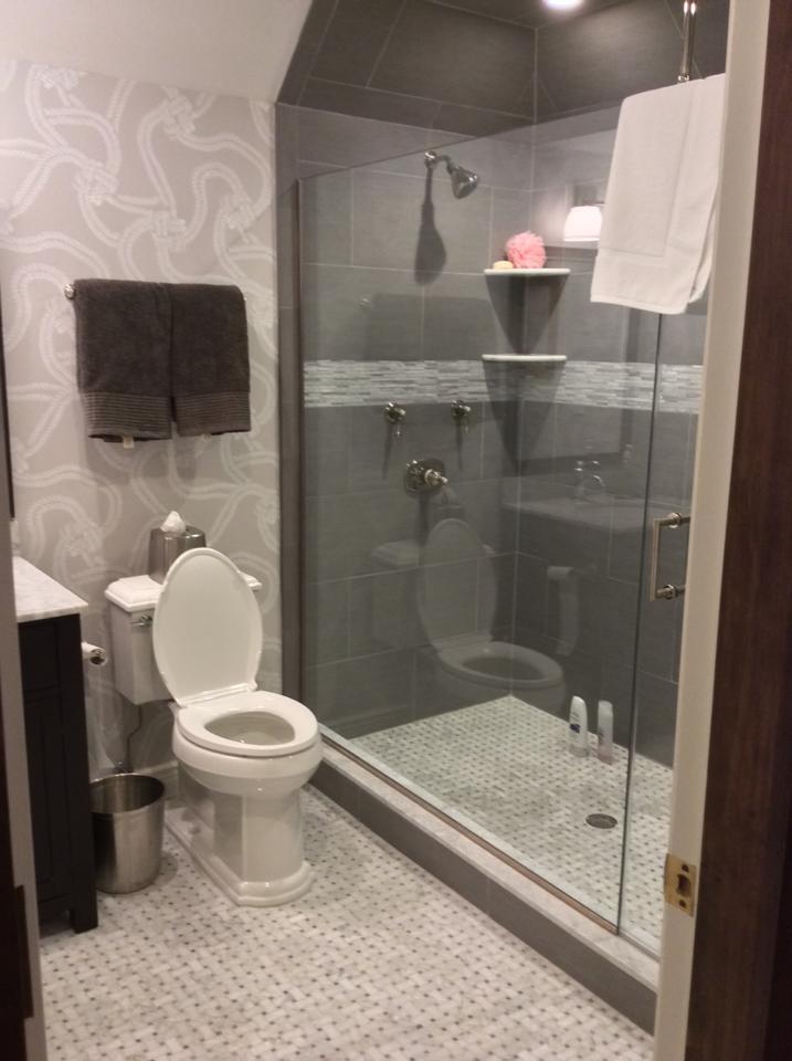 Finished bathroom.