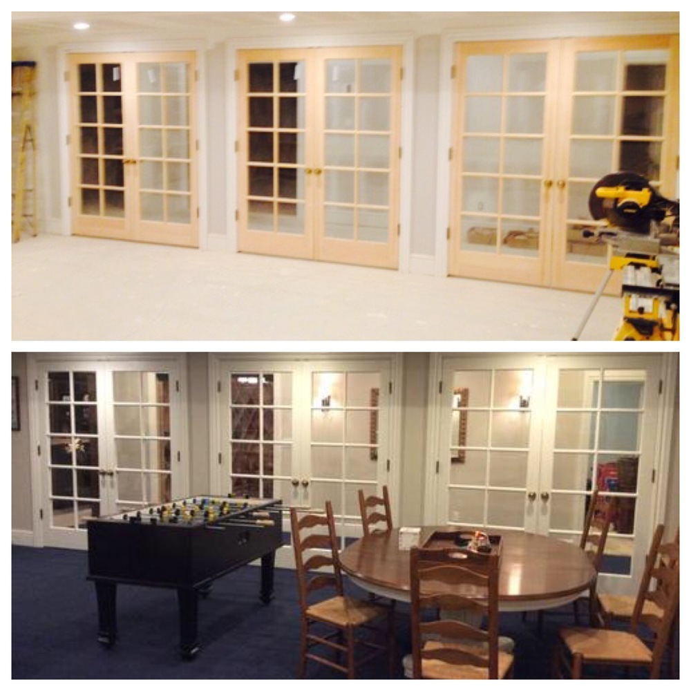 Custom doors before and after