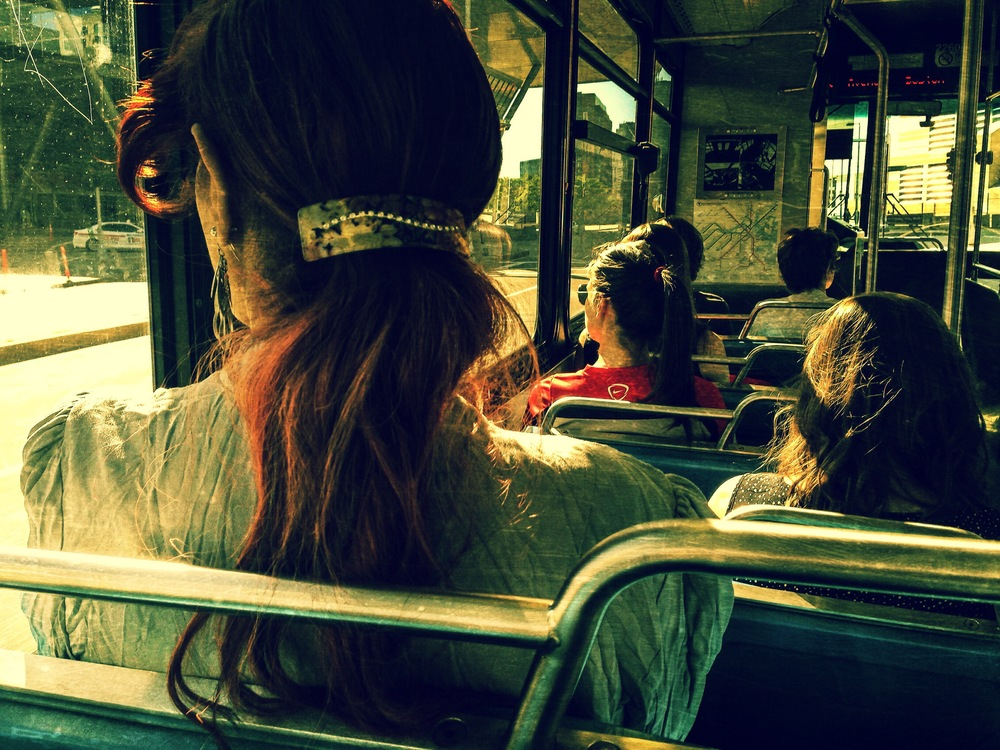 "© 2014 Sarahmica Photography - ""Strangers On Buses: Seeing Green"""