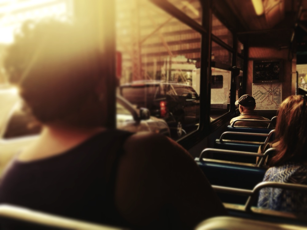 "© 2014 Sarahmica Photography - ""Strangers On Buses: Stuck in Traffic"""