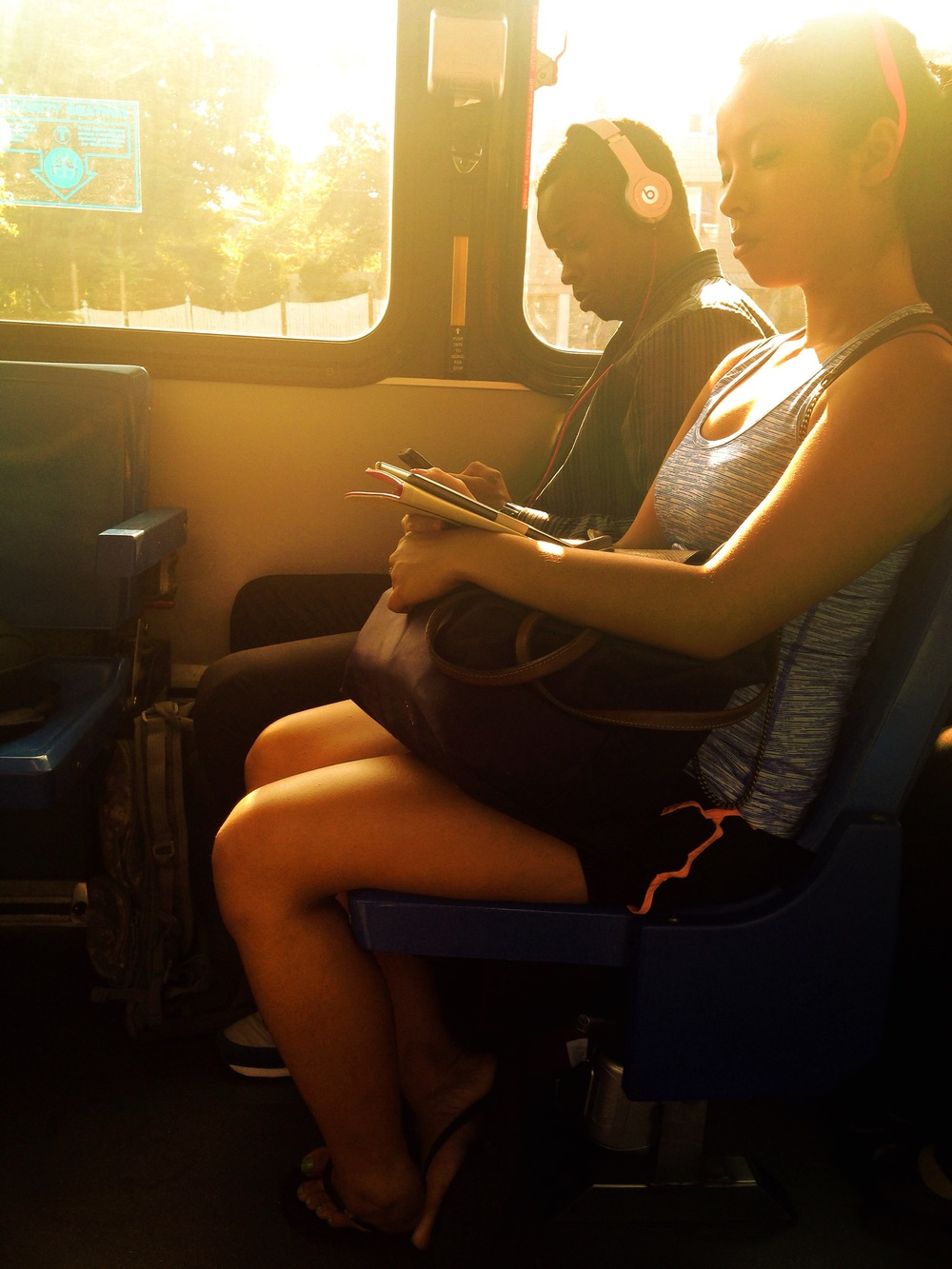 "© 2014 Sarahmica Photography - ""Strangers On Buses: Day After Labor Day Morning Commute"""
