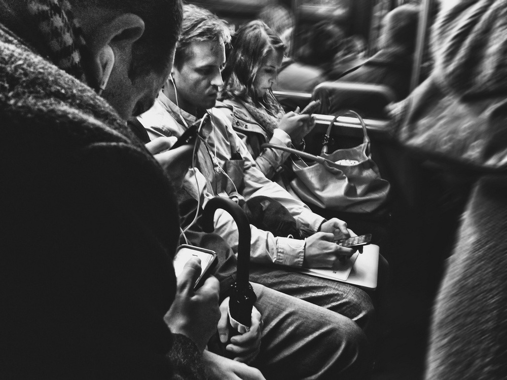 "© 2014 Sarahmica Photography - ""Strangers On Buses: Alone Together"""