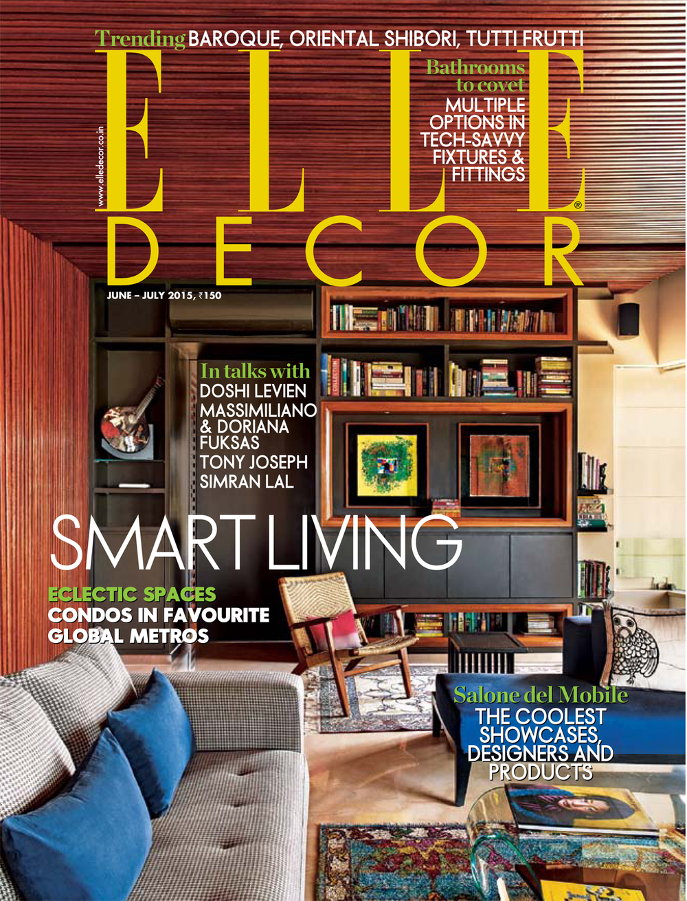 Ghislaine Vias Interior Design Elle Decor Cover 6 7 2015