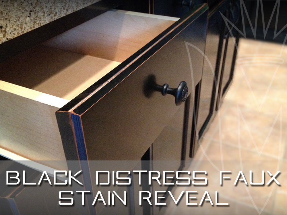 Black Distress Faux Stain Reveal