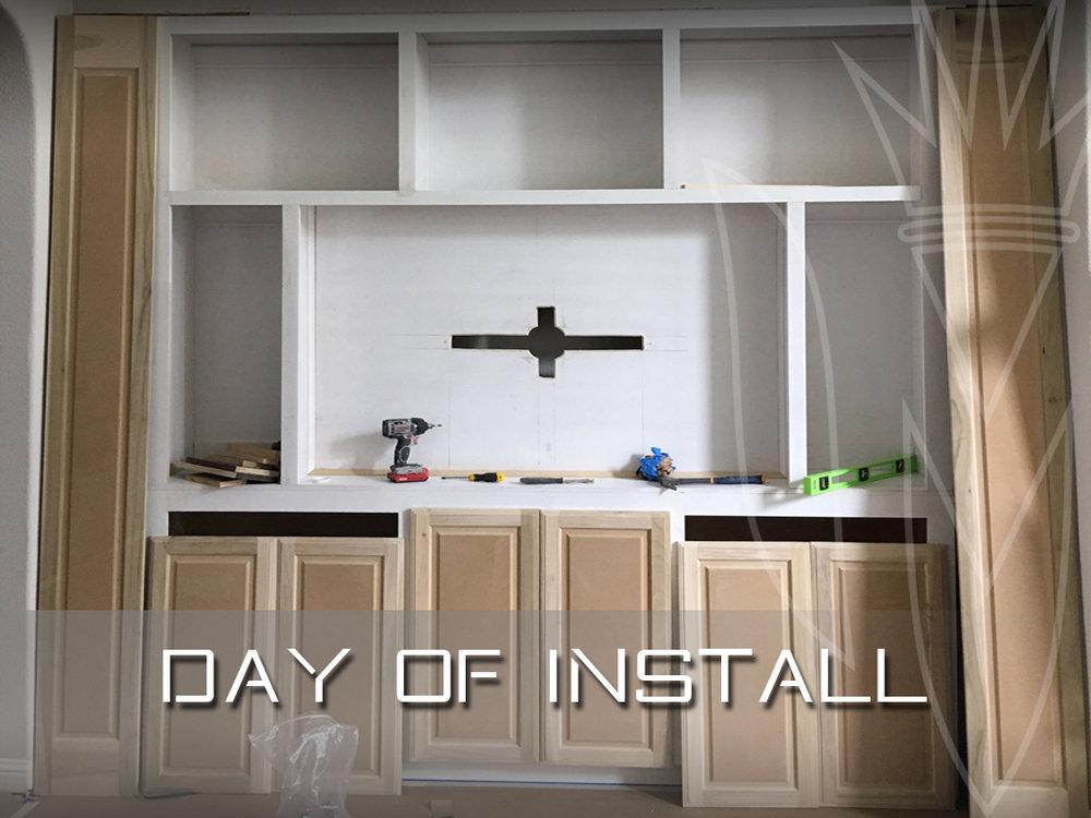 Day of installation to niche