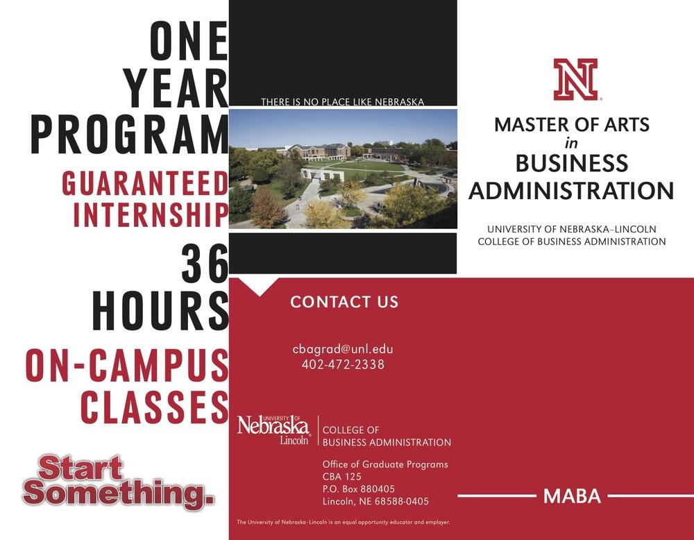 MABA program tri-fold brochure
