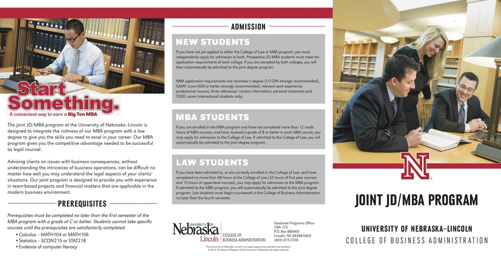 JD/MBA brochure