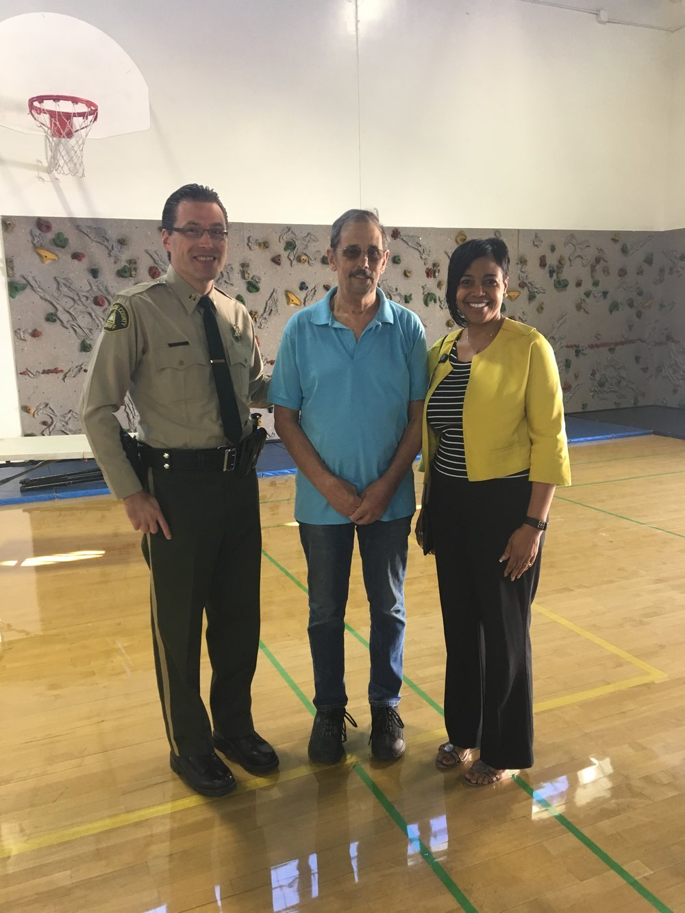 HOPE District 3B Chair, Ken Kidby Captain Purvis, City of Hemet - Riverside County Sheriff's Department Sundae Sayles, Legislative Assistant to Supervisor Chuck Washington