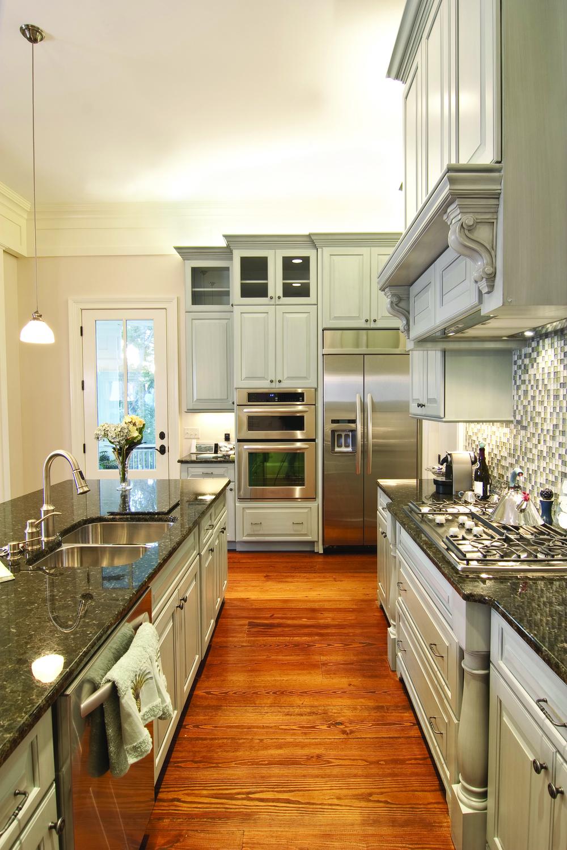 Great white kitchen.