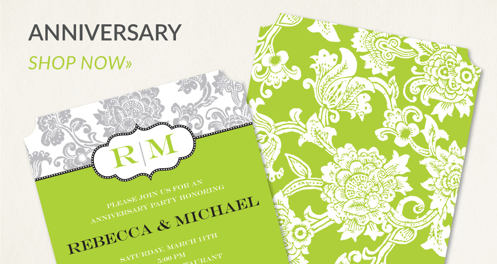 invitations - anniversary
