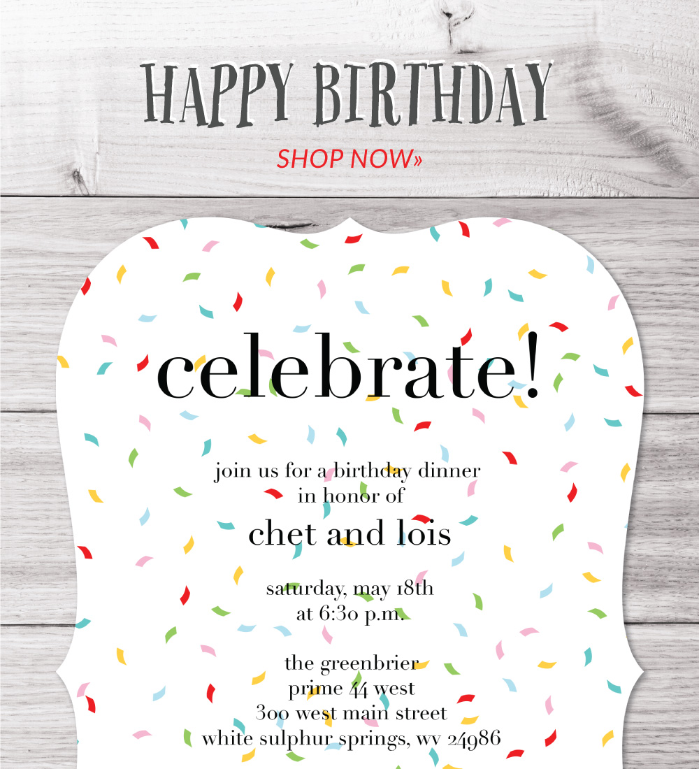 invitations - happy birthday