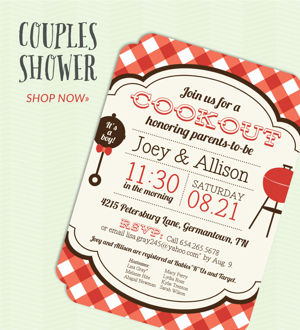 invitation - couples baby shower