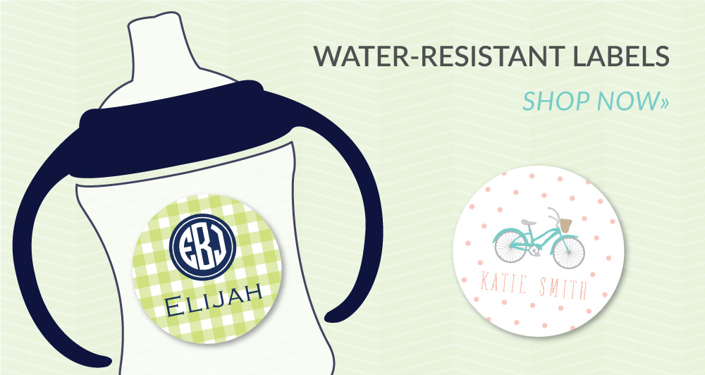 water-resistant labels