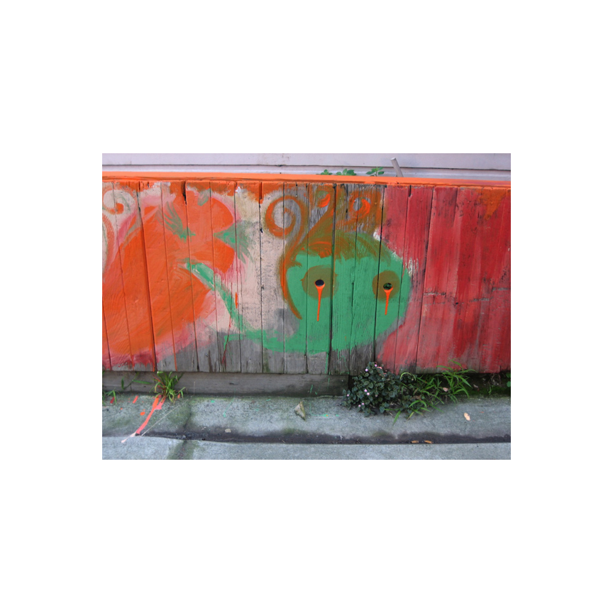 Valencia Street fence art