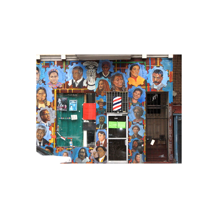 22nd Street Barber Shop mural