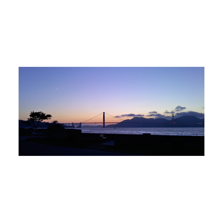 The view from Crissy Field at sunset