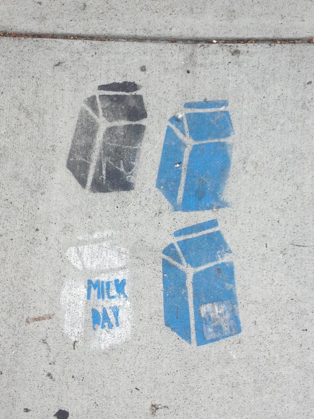 Valencia Street sidewalk art
