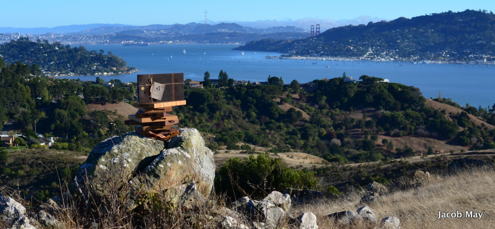 Eight end-grain butcher blocks overlooking the San Francisco Bay.
