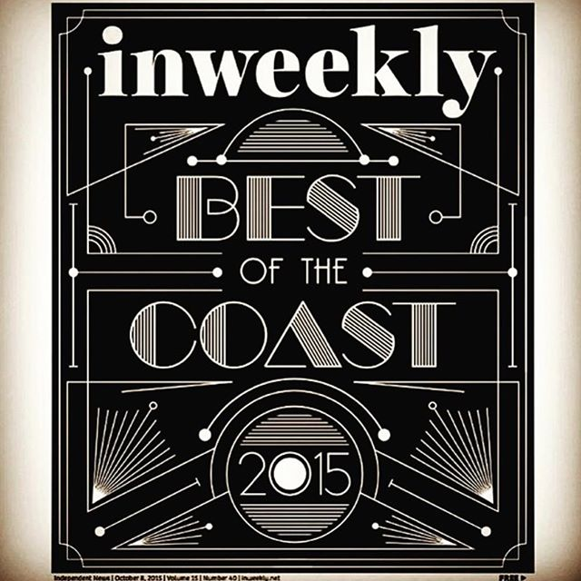 Swing by the shop to pick up your copy of #inweekly's #bestofthecoast2015 edition, and see what all the #hype is about! #bestmensapparel  #bestplacetobuyagreetingcardorstationery  #bestartgallery #bestgiftshop #bestpersontofollowoninstagram #Pensacola