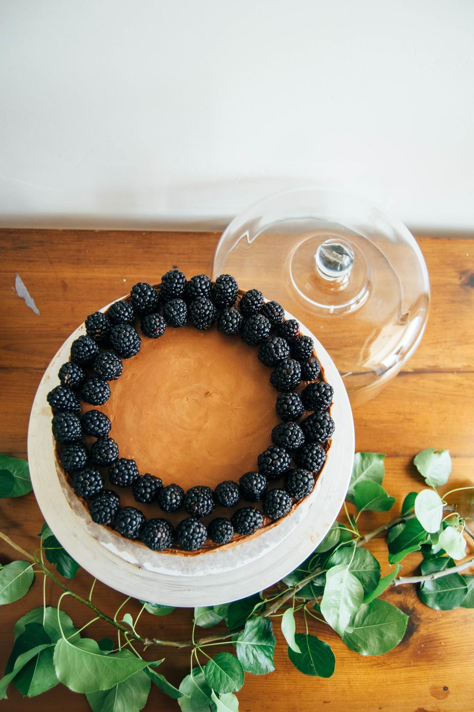 Milk Chocolate Cake w/ Blackberries