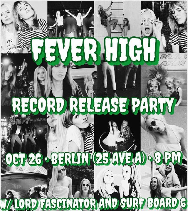 💿💿RECORD RELEASE PARTY💿💿 💿💿💿💿OCT 26 • BERLIN(25 AVE A) • 8 PM 💿💿 💿💿💿W/ @lordfascinator & @surf_board_6 💿💿 💿💿💿💿💿💿😘💿💿💿💿💿💿💿💿💿💿NEW TUNES AND ENTERTAINING BANDS AND WE WILL BE CELEBRATING  BIRTHDAY SO EXPECT SOME SORT OF CAKE SITUATION . . . . . . . . . #nycshows #nycband #nycmusic #girlband #synth #feverhigh #record #release #party #livemusic #nyclive #music #dance #birthday #pop #postpunk #newwave #beats #girlpower #newalbum #newtunes