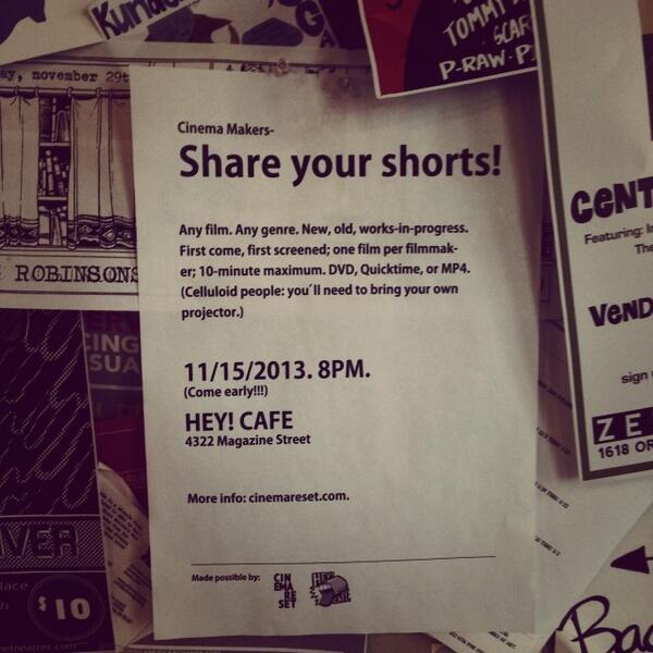 Open Screen, New Orleans -November 15, 2014