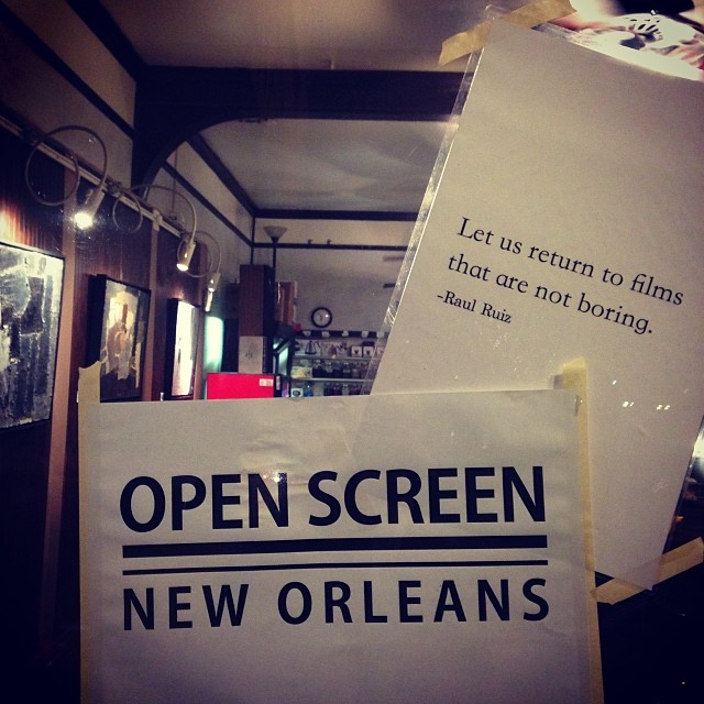 Open Screen, New Orleans -January 24, 2014