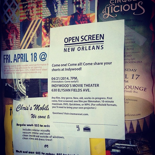 Open Screen, New Orleans -April 21, 2014