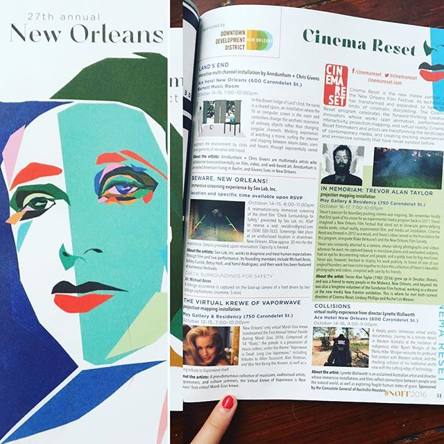 Pretty dang excited about our page in the #NOFF2016 program guide - check us out on page 51!
