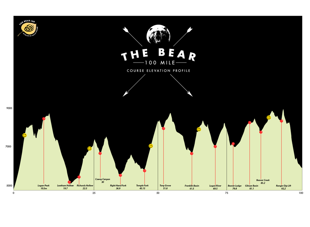 An edited elevation profile I made before the race. Not accurate by any means, but easier for me to glance at.