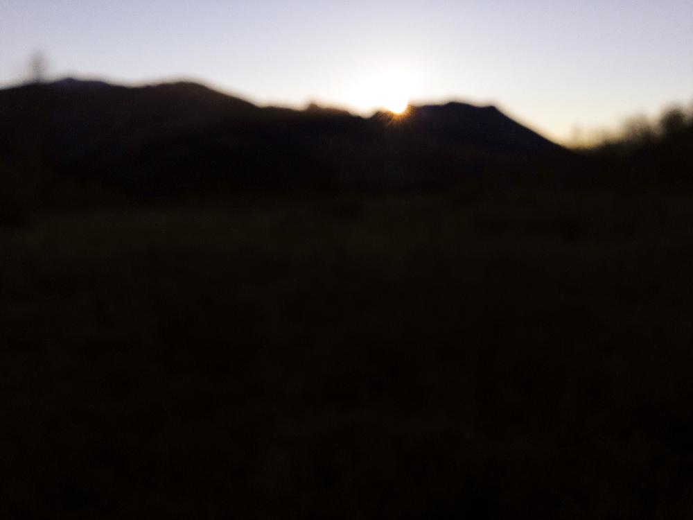 Burry Ridge at sunset.