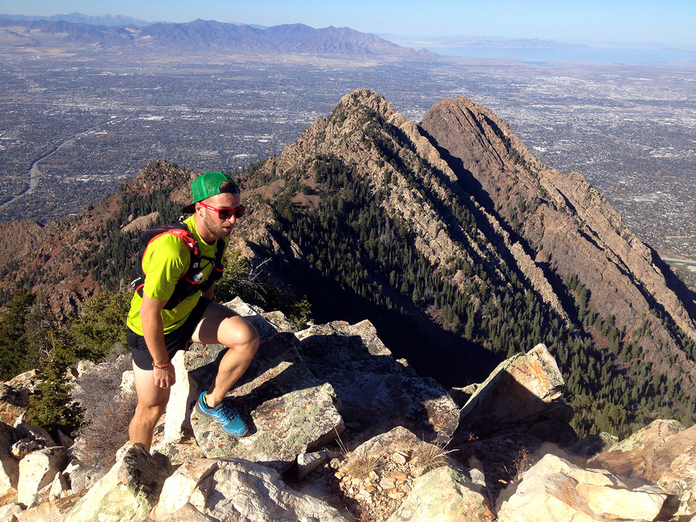 Brody on Triangle Peak.
