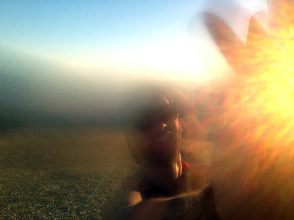 A condensation filled lens shoots a high-five on Mt. Wire summit.