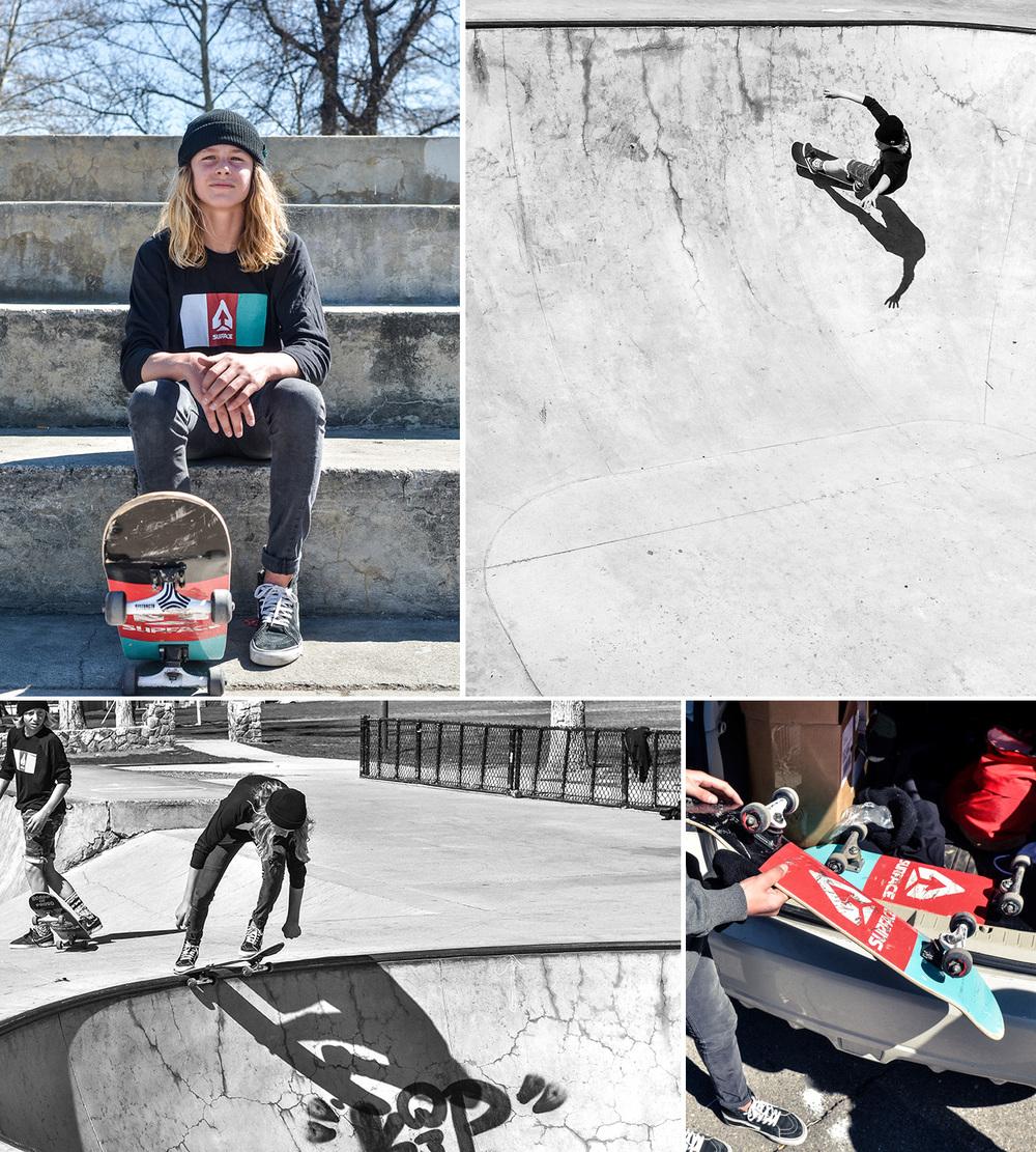 Friday: Shot some of Surface Skis' gromsdoing something besides skiing. Fun shoot!