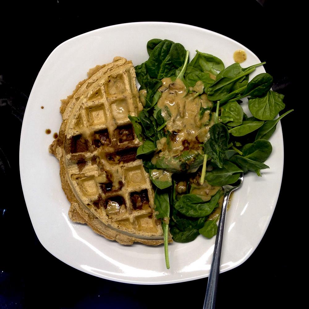 We make really good savory waffles.