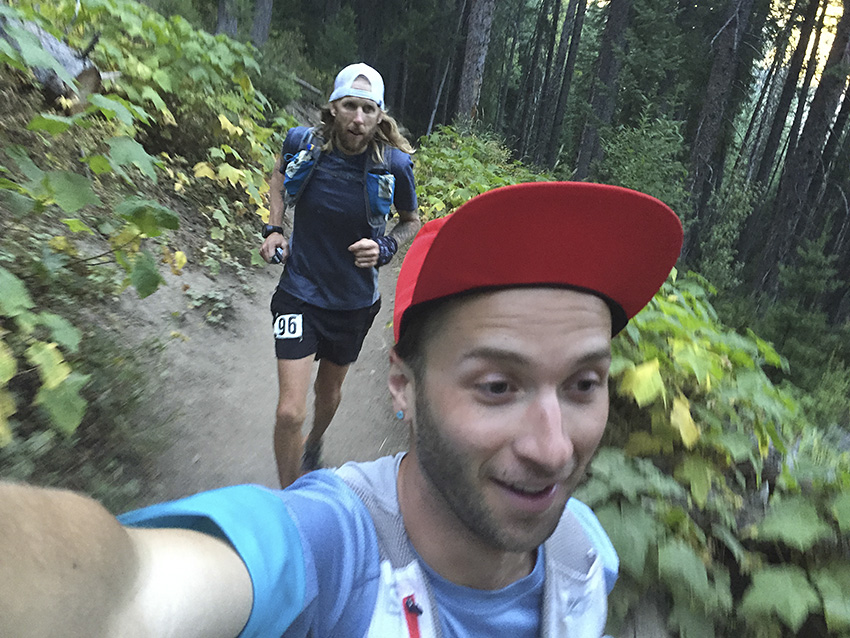 Feeling good and jogging uphill between Upper Big Water and Desolation. (photo Brody)