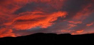 Red Sky over Mt. Mansfield - November 6, 2008