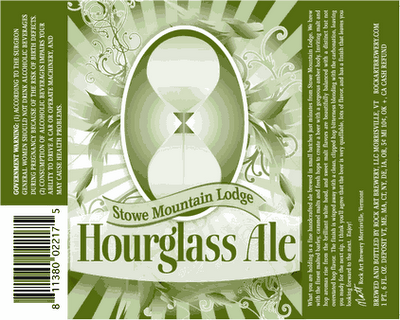 Hourglass Ale at the Hourglass Bar at Stowe Mountain Lodge