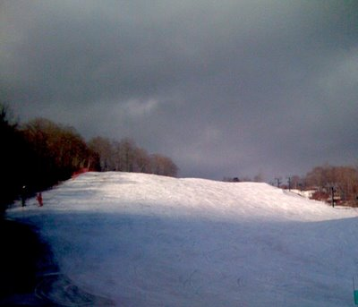 Storm Light on Slalom Hill at Stowe Mountain Resort