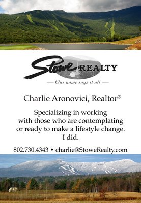 Charlie Aronovici's ad in the Lamoille Area Real Estate Buyers' Guide