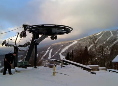 Top of the Alpine Lift at Stowe Mountain Resort