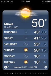 Stowe Weather: 2/17/2011 @ 2:41 p.m.