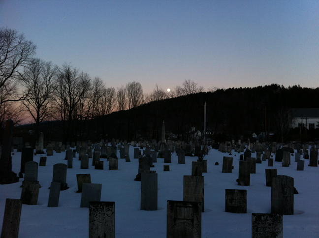 Moon Over Stowe - February 6, 2012