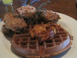 Chicken and Waffles at the Rusty Nail
