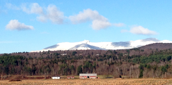 Mt. Mansfield from Rt. 100 in Stowe, Vermont - November 6, 2012