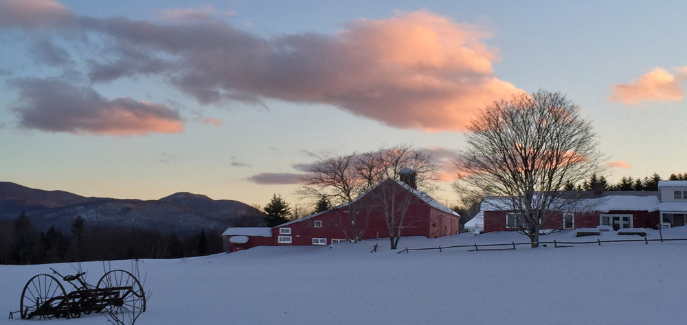 Stagecoach Road, Morristown, VT • Looking Southeast at Dusk