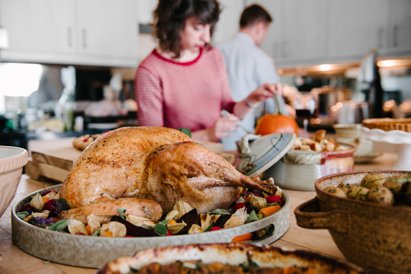 The day of a big holiday meal is a bad time to discover your oven isn't working. One common cause is blowing a fuse while self-cleaning your oven, so wait until after entertaining to use that feature. Image: © Cara Slifka/Stocksy United